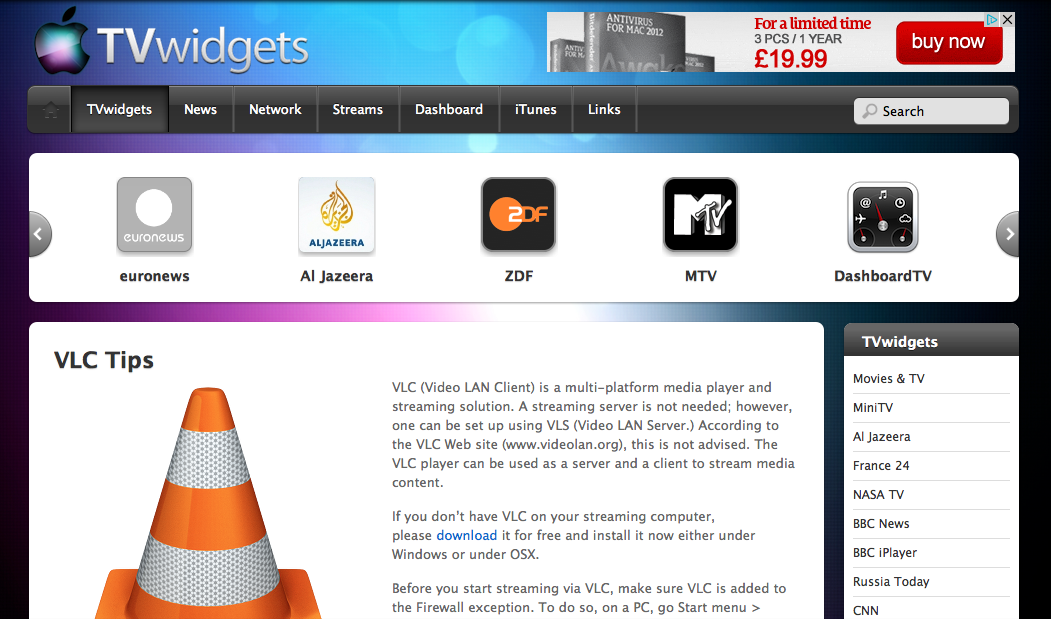 http://tv.widgets.onemac.org